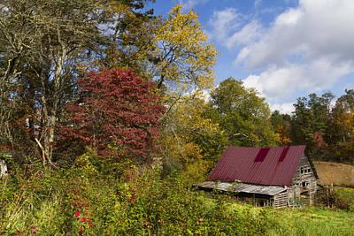 Appalachian Autumn Art Print by Debra and Dave Vanderlaan