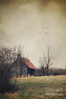Log Cabins Photograph - Appalachian Cabin by Stephanie Frey