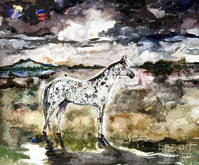 Painting - Appaloosa Spirit Horse Painting by Ginette Callaway