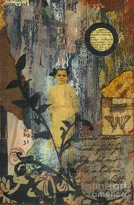 Mixed Media - Apparition Beyond The Vine by Desiree Paquette