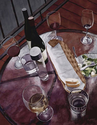 Painting - Appetizers With Friends by Cory Clifford