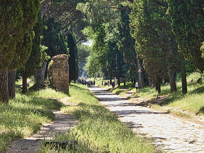 Photograph - Appian Way In Rome by David Smith