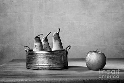 Apple And Pears 02 Art Print by Nailia Schwarz