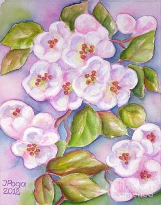 Painting - Apple Blossoms 2 by Inese Poga