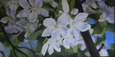 Painting - Apple Blossoms by Tammy  Taylor