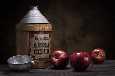 Tin Photograph - Apple Cider Still Life by Tom Mc Nemar