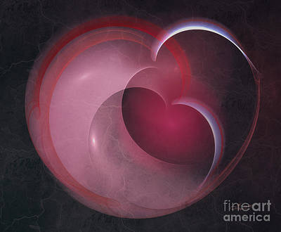 Cracks Digital Art - Apple Heart by Jutta Maria Pusl