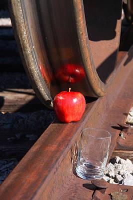 Thomas Kinkade Royalty Free Images - Apple Juice Railroad 4 Royalty-Free Image by John Brueske
