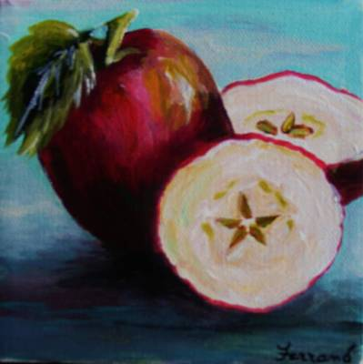 Art Print featuring the painting Apple Magic by Karen  Ferrand Carroll