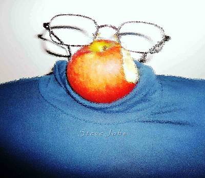 Pietyz Artworkz Painting - Apple Mystic-steve Jobs by Piety Dsilva