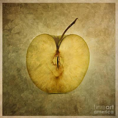Apple Textured Art Print by Bernard Jaubert
