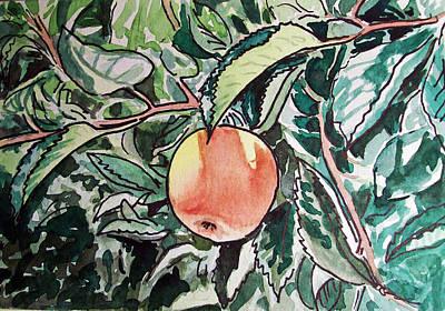 Sketchbook Painting - Apple Tree Sketchbook Project Down My Street by Irina Sztukowski