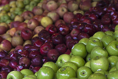 Photograph - Apples At Local Market by Zoe Ferrie
