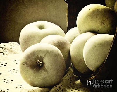Photograph - Apples Black And White by Pam  Holdsworth