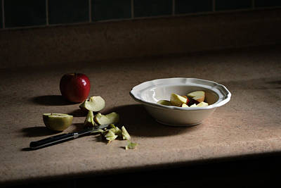 Y120831 Photograph - Apples For Breakfast by Photography by Gordana Adamovic Mladenovic