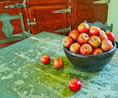Digital Art - Apples  by Karen Francis