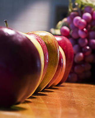 Photograph - Apples Line-up by Trudy Wilkerson