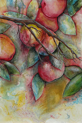 Painting - Apples On A Tree by Jean Rascher