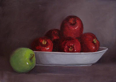 Painting - Apples -still Life by Asha Sudhaker Shenoy