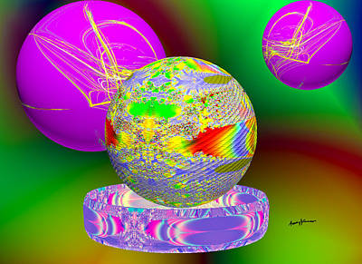 Fractal Orbs Digital Art - Applied Fractals by Anthony Caruso