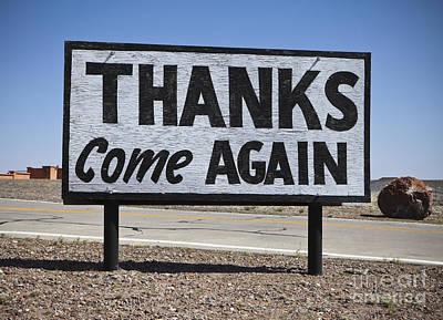 Roadside Photograph - Appreciative Road Sign by Paul Edmondson
