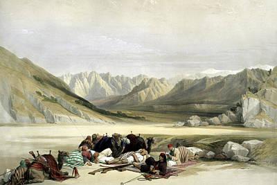 Photograph - Approach To Mount Sinai Wady Barah Feby 17th 1839 by Munir Alawi