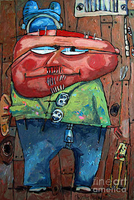 Artist Self Portrait Painting - Approaching Lumpiness by Charlie Spear