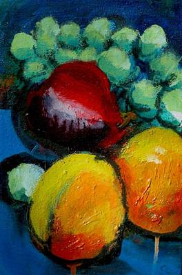 Painting - Apricots by Les Leffingwell