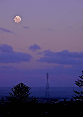 Photograph - April Full Moon Over Adelaide by Kirsten Giving