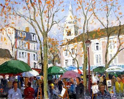 Sacre Coeur Painting - April In Paris by Roelof Rossouw
