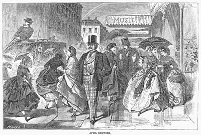April Shower Photograph - April Showers, 1859 by Granger