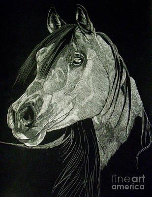 April The Horse Art Print by Yenni Harrison