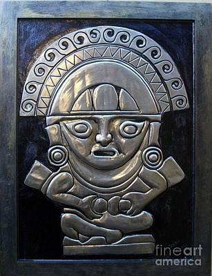 Metal Embossing Relief - Apu-punchau by Cacaio Tavares