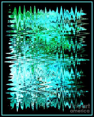 Digital Art - Aqua Agua Abstract by Carol Groenen