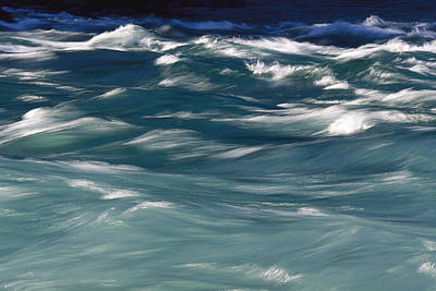 Aqua Blue Waves Art Print