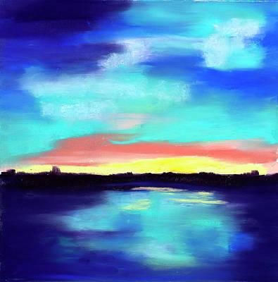 Aqua Reflections Art Print by Diana Tripp