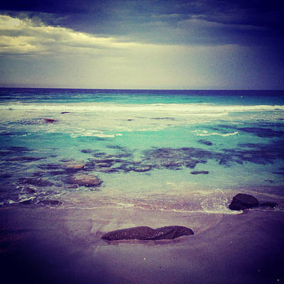 Y120831 Photograph - Aqua Water On Stormy Day At Beach by Jodie Griggs