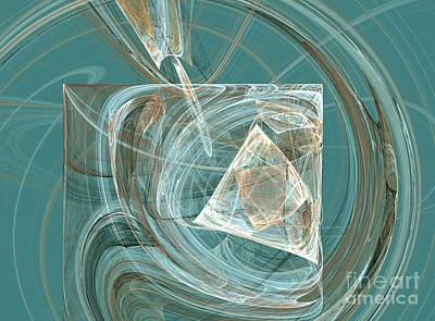 Digital Art - Aquaabstraction by Vicki Lynn Sodora
