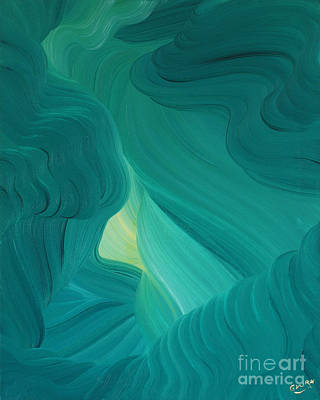Painting - Aquamarine Vista by Ginny Gaura