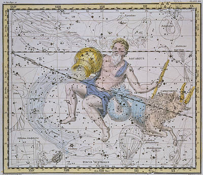 From A Celestial Atlas Painting - Aquarius And Capricorn by A Jamieson
