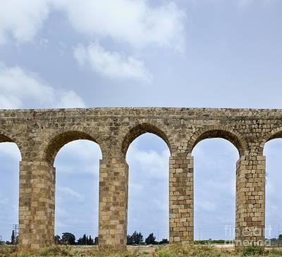 Aqueduct Of Acre Art Print by Noam Armonn