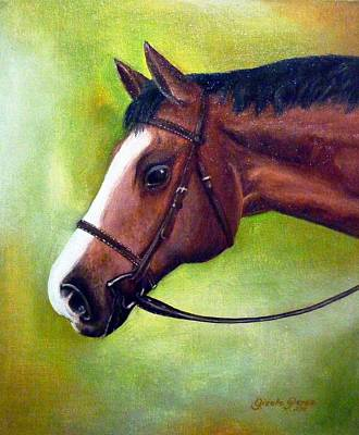 Arabian Horse Art Print by Gizelle Perez