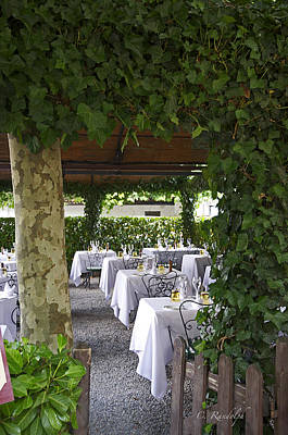 Photograph - Arbor Dining by Cheri Randolph