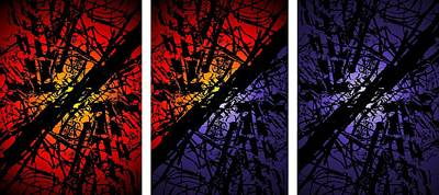 Digital Art - Arbor Sun And Moon Triptych by Tim Allen