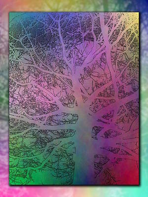 Digital Art - Arboreal Mist 2 by Tim Allen