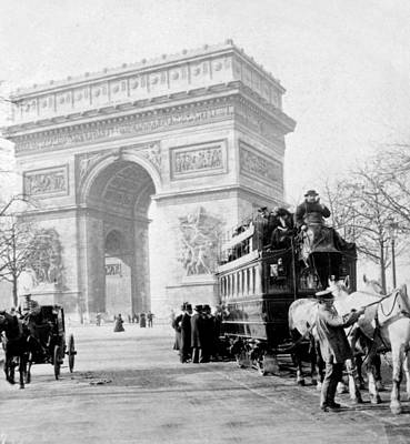 Photograph - Arc De Triomphe - Paris France - C 1898 by International  Images