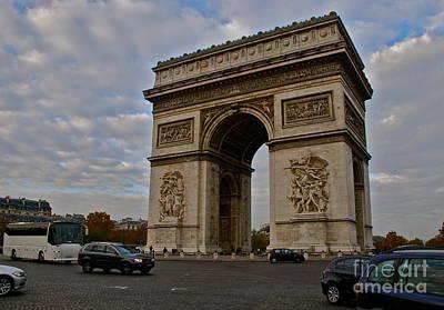 Art Print featuring the photograph Arc De Triomphe by Eric Tressler