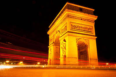 Photograph - Arc De Triomphe In Motion by Anthony Doudt