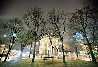 Bare Trees Photograph - Arc De Triomphe by TC Lin