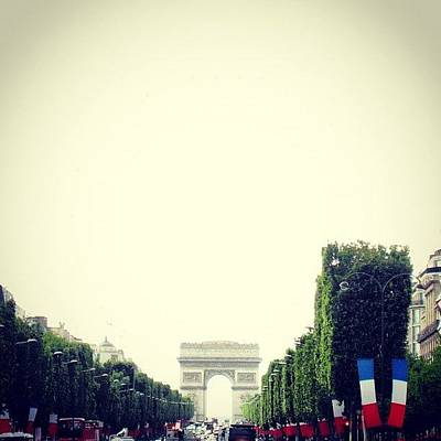 Icon Wall Art - Photograph - Arc Du Triomphe 14 Julliet by Marce HH